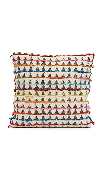 Gift Boutique Block Print Heritage Pillow In Multi