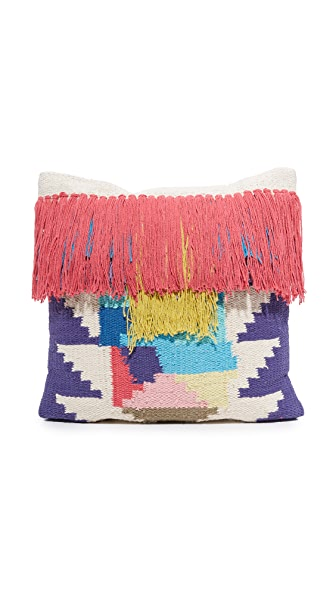 Gift Boutique Mosaic Tassel Pillow - Multi
