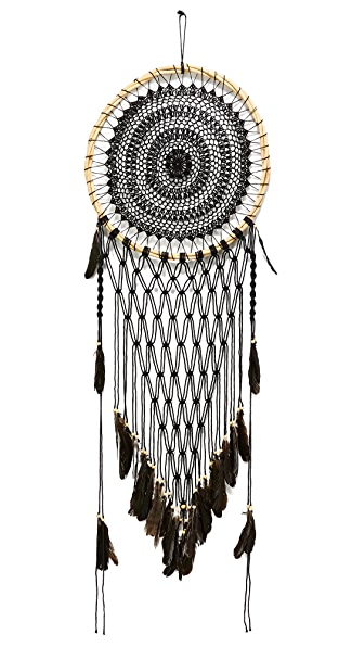 Gift Boutique Large Net Dreamcatcher - Black