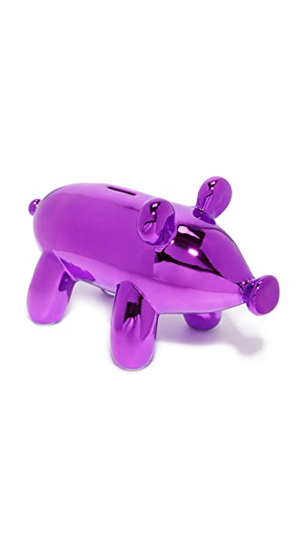Gift Boutique Balloon Piggy Money Bank In Pink