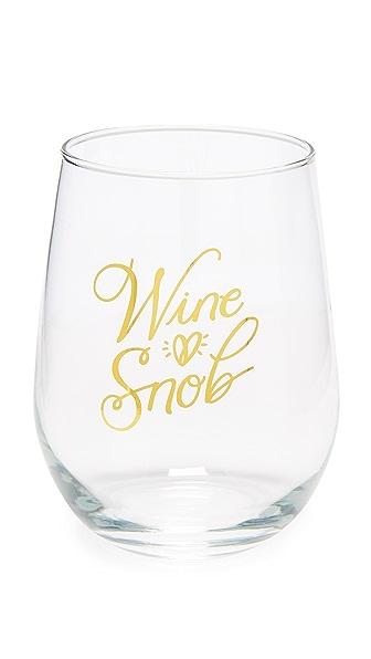 Gift Boutique Wine Snob Stemless Wine Glass