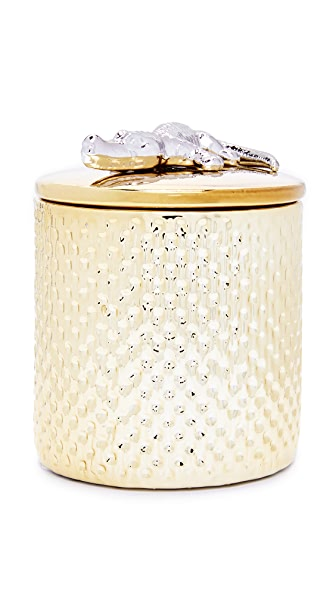 Gift Boutique Gold Croco Candle - Gold