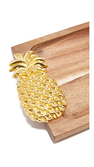 Gift Boutique Pineapple Tray with Picks