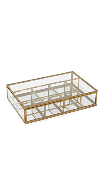 Gift Boutique Wallace 5 Compartment Display Box In Clear