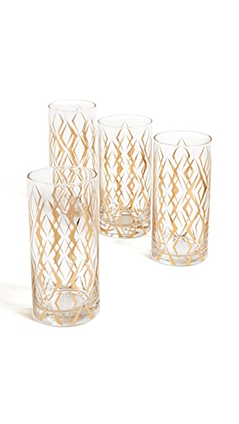 Gift Boutique Cocktail Glass Set In Gold