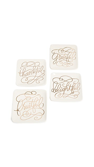 Gift Boutique Appetizer Plate Set of Four