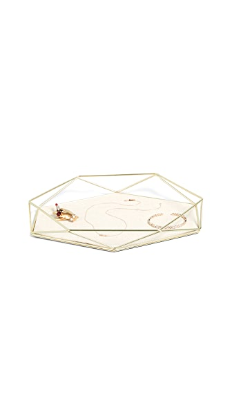Gift Boutique Prisma Jewelry Tray In Brass