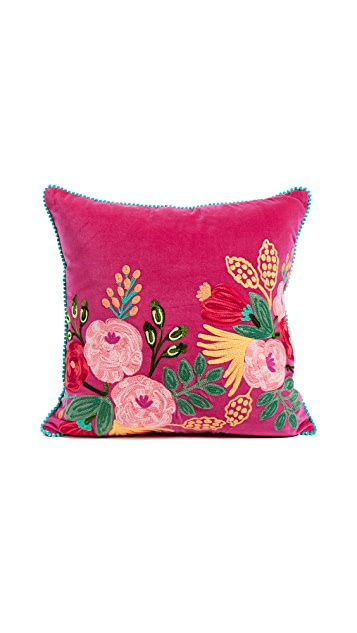 Gift Boutique Velvet Floral Pillow