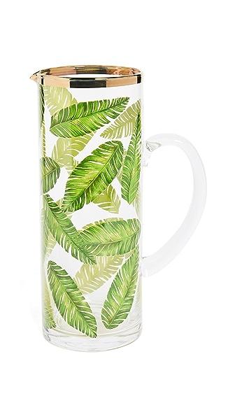 Gift Boutique Botanical Leaf Pitcher In Banana Leaf