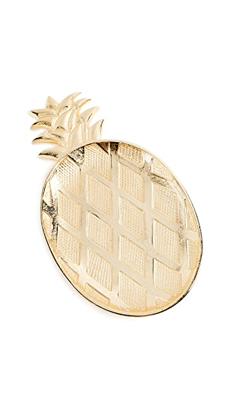 Gift Boutique Large Pineapple Tray In Gold Pineapple