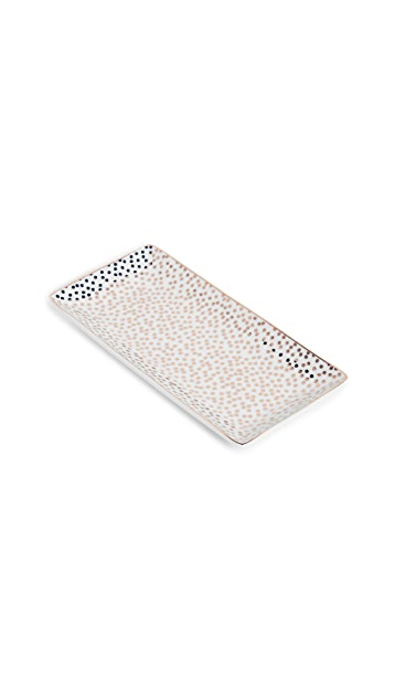 Gift Boutique Rose Dot Rectangle Trinket Tray