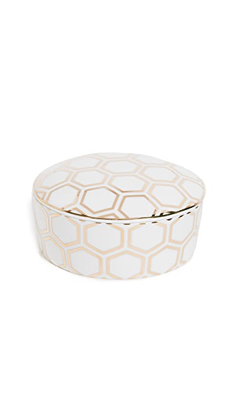 Gift Boutique Honeycomb Trinket Box In Gold