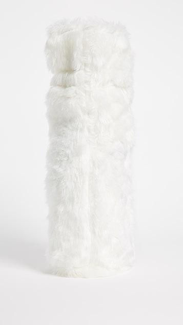 Gift Boutique Luxe Faux Fur Wine Bag