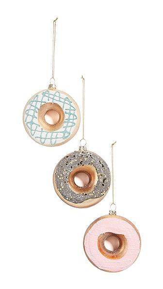 Gift Boutique Doughnut Ornament Set In Multi