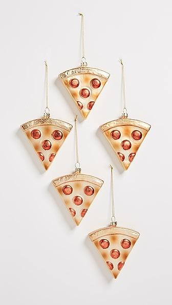 8 Oak Lane Pizza Slice Ornaments Set