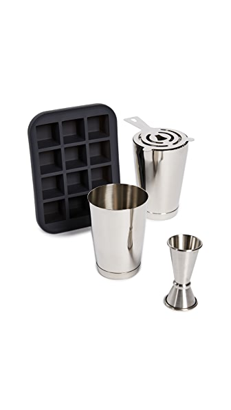 Gift Boutique Barware Host Gift Set In Silver