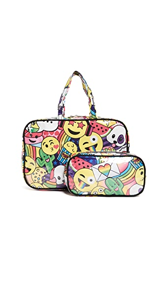 Gift Boutique Child's Emoji Cosmetic Case Set In Multi
