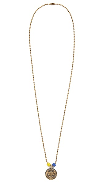 Giles & Brother Anchor Charm Ballchain Necklace