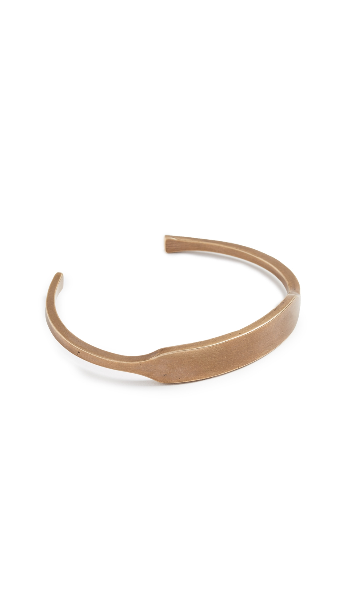 GILES & BROTHER Id Cuff in Antique Brass