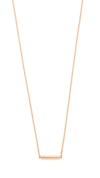 ginette_ny 18k Rose Gold Strip Necklace