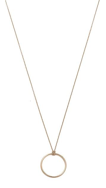 ginette_ny 18k Gold Mini Circle Necklace