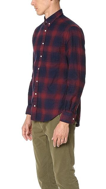 Gitman Vintage Indigo Flannel Shirt