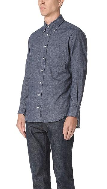 Gitman Vintage Long Sleeve Flannel Chambray Shirt