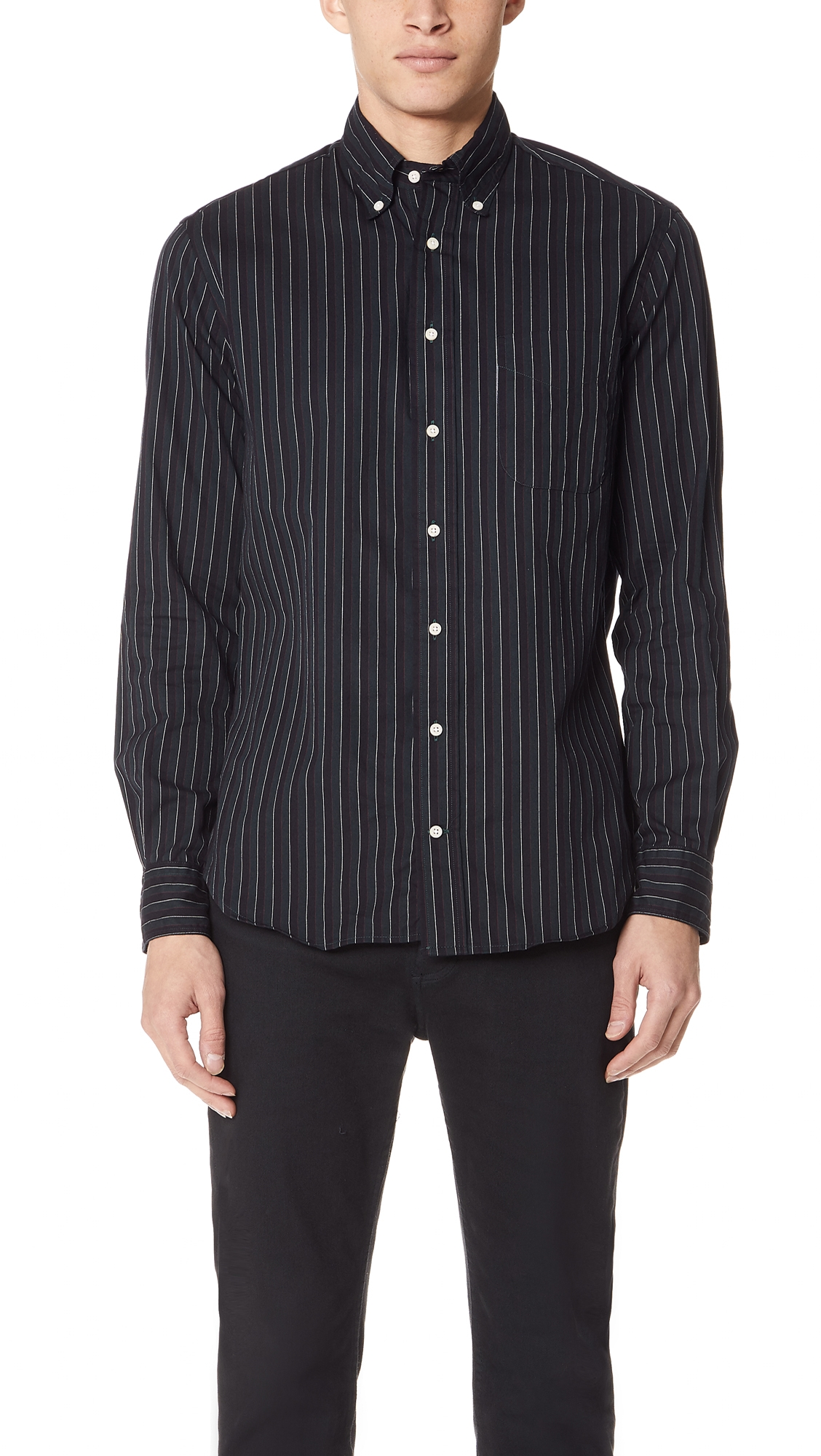 GITMAN VINTAGE STRIPED BUTTON DOWN SHIRT
