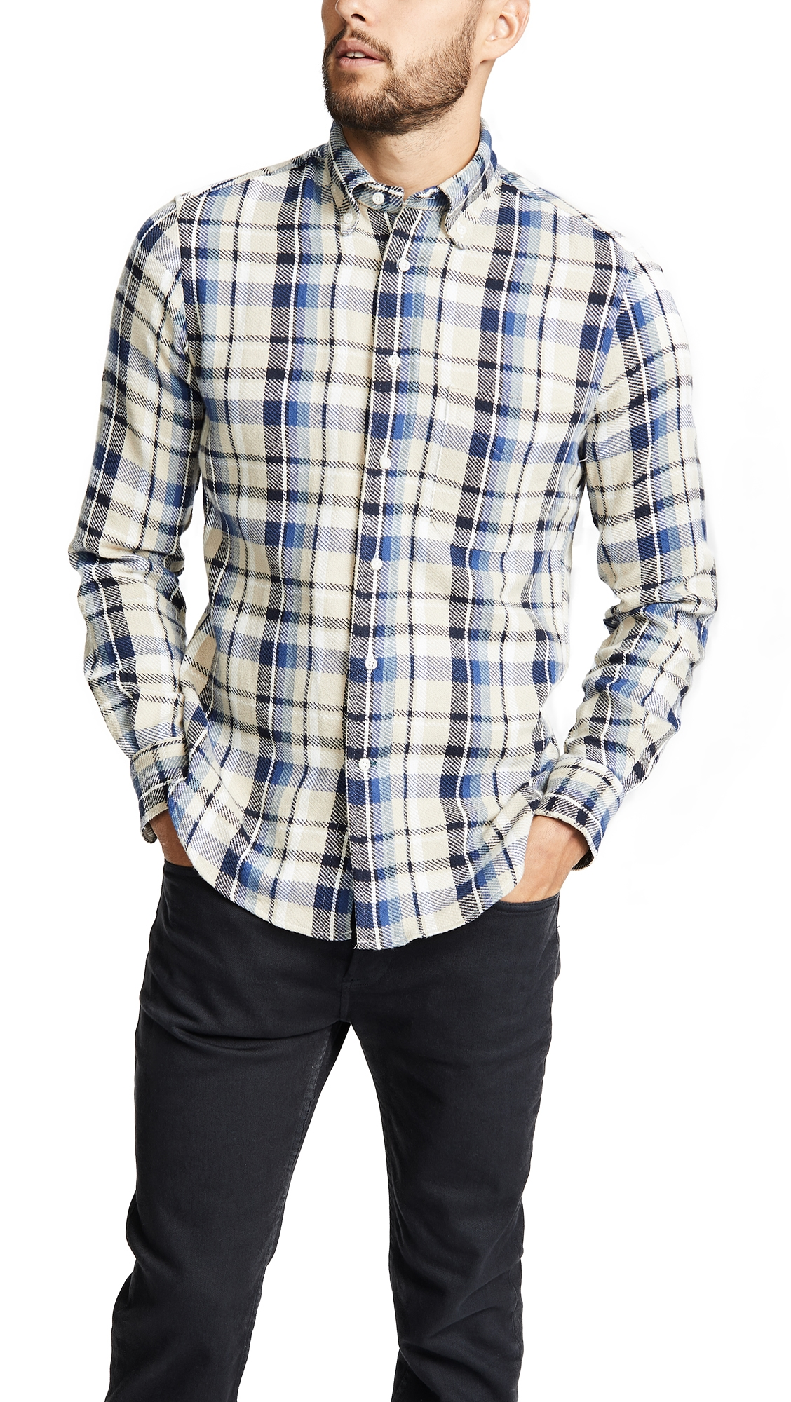 GITMAN VINTAGE TRIPLE YARN FLANNEL SHIRT