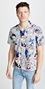 Gitman Vintage Ss Bd Sailor Shirt - Camp Collar