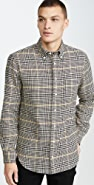 Gitman Vintage Cotton Houndstooth Tweed Button Down Shirt