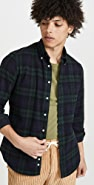Gitman Vintage Shaggy Brushed Blackwatch Oxford Button Down Shirt