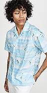Gitman Vintage Rockaway Beach Print Camp Collar Shirt