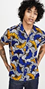 Gitman Vintage African Floral Camp Collar Short Sleeve Shirt