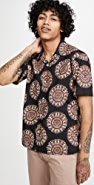Gitman Vintage Medallion Kalamkari Camp Collar Short Sleeve Shirt