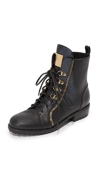 Giuseppe Zanotti Leather Combat Boots - Black