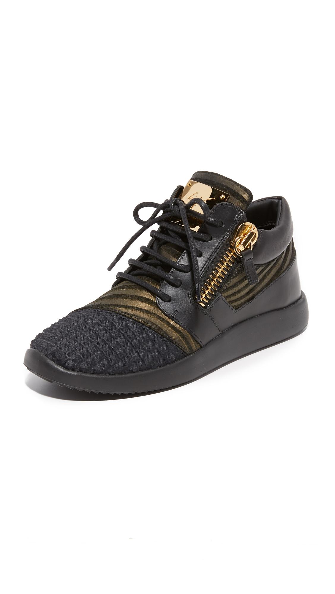 Giuseppe Zanotti Leather Sneakers - Nero