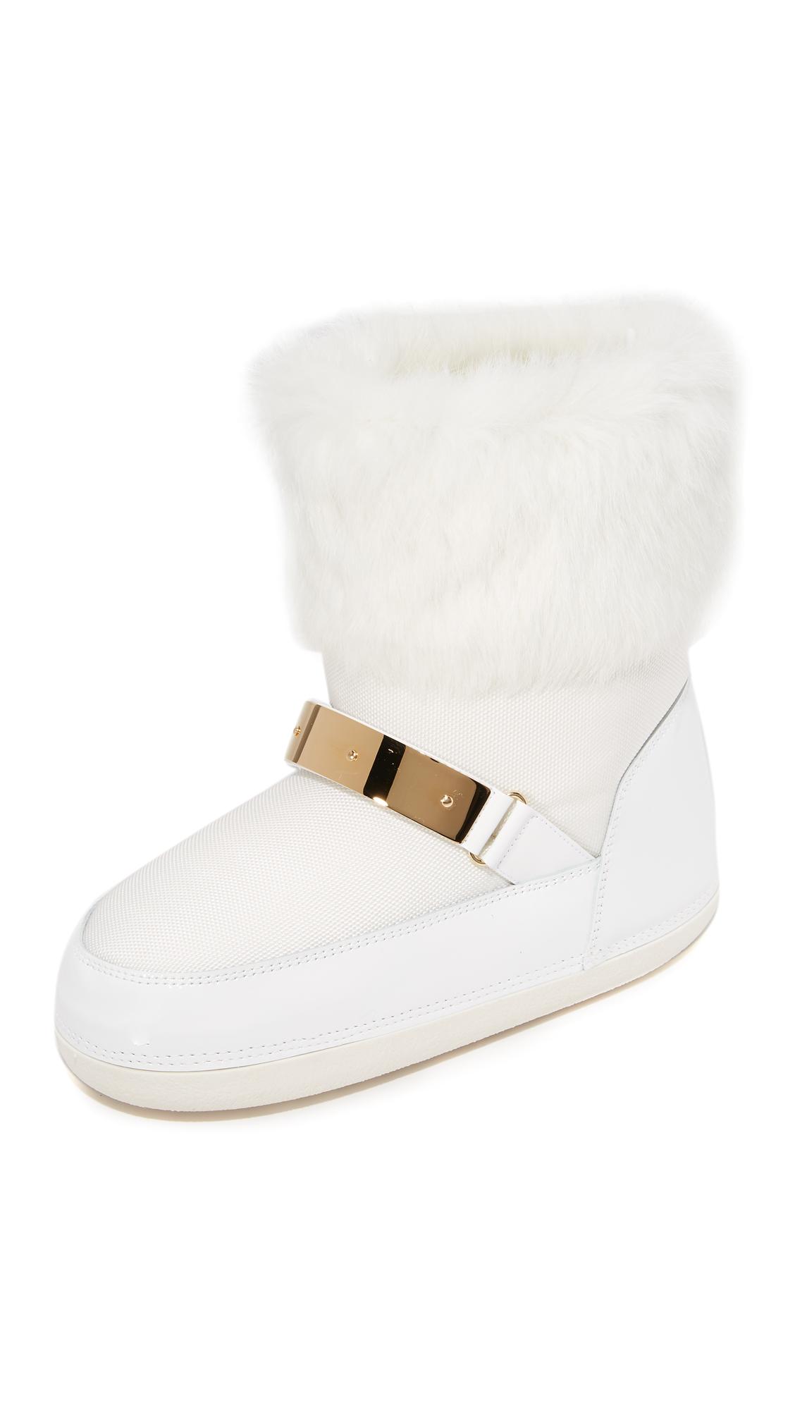 Giuseppe Zanotti Moon Boots - White at Shopbop