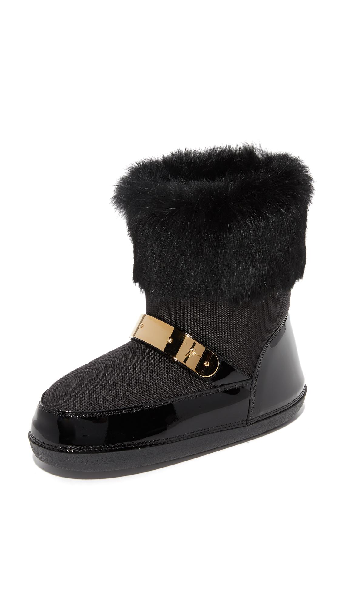 Giuseppe Zanotti Moon Boots - Black at Shopbop
