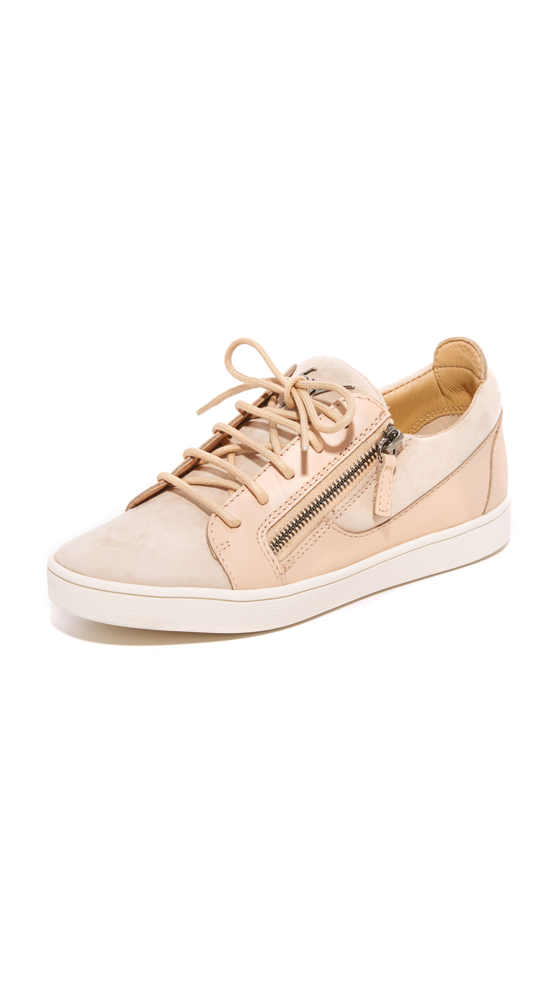 Giuseppe Zanotti Suede Sneakers - Pallido