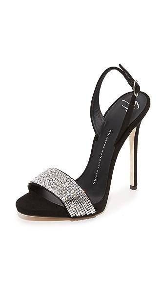 Giuseppe Zanotti Embellished Sandals - Nero