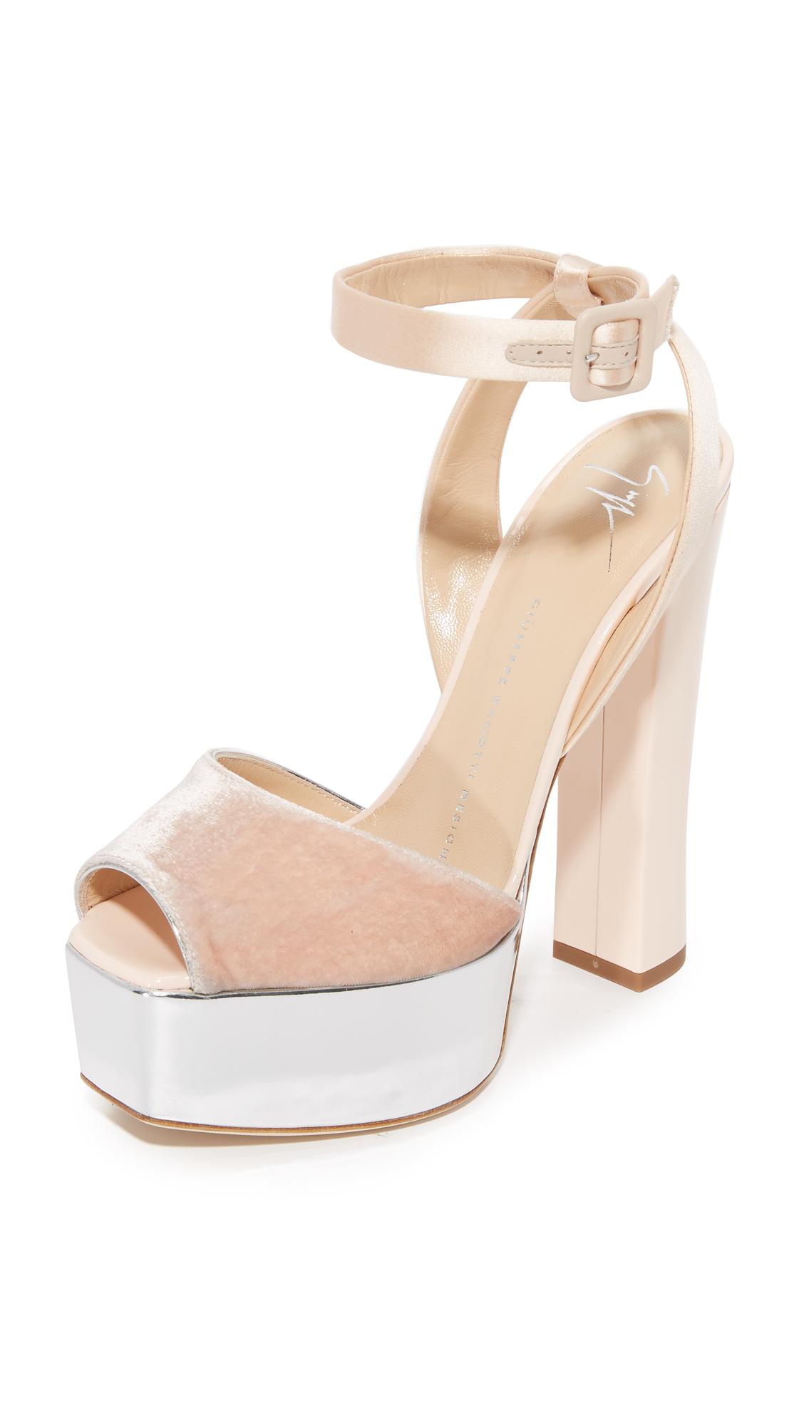 Giuseppe Zanotti Platform Sandals - Cipria at Shopbop
