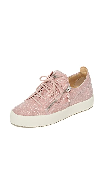 05a8daab7 Giuseppe Zanotti 20Mm Glittered Fabric Sneakers