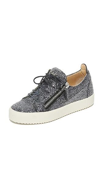 Giuseppe Zanotti Glitter Sneakers - Anthracite