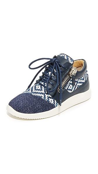 Giuseppe Zanotti Lace Up Sneakers - Navy