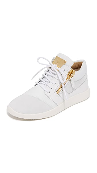 Giuseppe Zanotti Lace Up Sneakers - Bianco