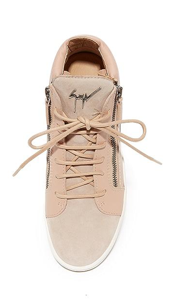 Giuseppe Zanotti High Top Zip Sneakers