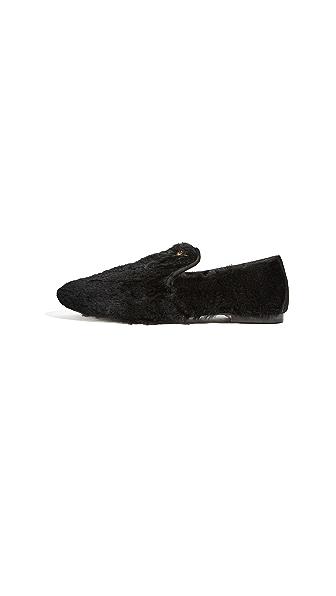 Giuseppe Zanotti Dalila Fur Loafers In Nero