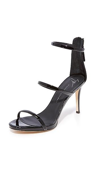 Giuseppe Zanotti Alien Sandal Heels - Nero