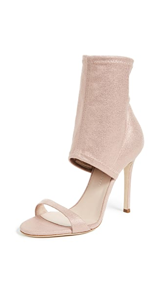 Giuseppe Zanotti Covered Ankle Heeled Sandals In Rose